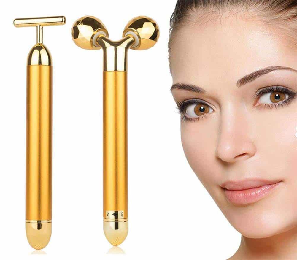 24K Gold Bar Facial Massager